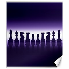 Chess Pieces Canvas 8  X 10  by Valentinaart