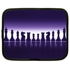 Chess Pieces Netbook Case (xl)  by Valentinaart