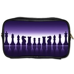 Chess Pieces Toiletries Bags 2 Side by Valentinaart