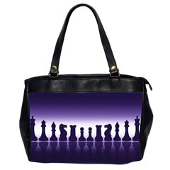Chess Pieces Office Handbags (2 Sides)  by Valentinaart