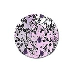 Floral Pattern Background Magnet 3  (Round) Front