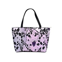 Floral Pattern Background Shoulder Handbags by Nexatart
