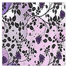 Floral Pattern Background Large Satin Scarf (square) by Nexatart