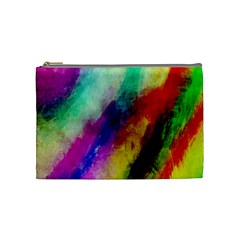 Colorful Abstract Paint Splats Background Cosmetic Bag (medium)  by Nexatart