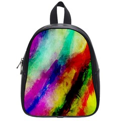 Colorful Abstract Paint Splats Background School Bags (small)  by Nexatart