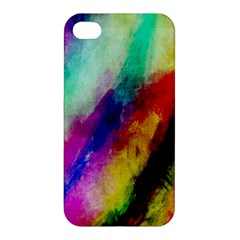 Colorful Abstract Paint Splats Background Apple Iphone 4/4s Premium Hardshell Case by Nexatart
