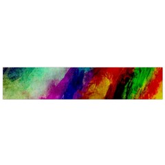 Colorful Abstract Paint Splats Background Flano Scarf (small)