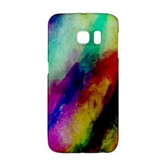 Colorful Abstract Paint Splats Background Galaxy S6 Edge by Nexatart