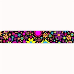 Bright And Busy Floral Wallpaper Background Small Bar Mats by Nexatart