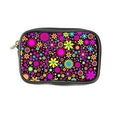 Bright And Busy Floral Wallpaper Background Coin Purse