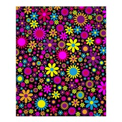 Bright And Busy Floral Wallpaper Background Shower Curtain 60  X 72  (medium)  by Nexatart