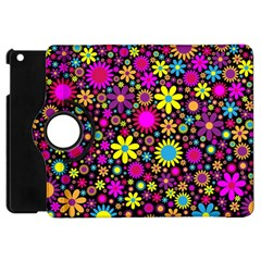 Bright And Busy Floral Wallpaper Background Apple Ipad Mini Flip 360 Case