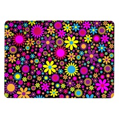 Bright And Busy Floral Wallpaper Background Samsung Galaxy Tab 10 1  P7500 Flip Case