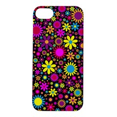 Bright And Busy Floral Wallpaper Background Apple Iphone 5s/ Se Hardshell Case