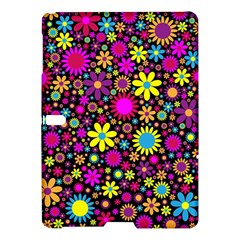Bright And Busy Floral Wallpaper Background Samsung Galaxy Tab S (10 5 ) Hardshell Case  by Nexatart