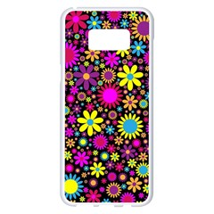 Bright And Busy Floral Wallpaper Background Samsung Galaxy S8 Plus White Seamless Case