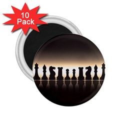 Chess Pieces 2 25  Magnets (10 Pack)  by Valentinaart