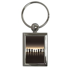 Chess Pieces Key Chains (rectangle)  by Valentinaart