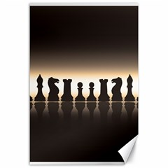 Chess Pieces Canvas 24  X 36