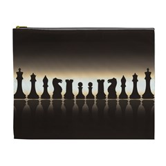 Chess Pieces Cosmetic Bag (xl) by Valentinaart