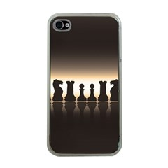 Chess Pieces Apple Iphone 4 Case (clear) by Valentinaart
