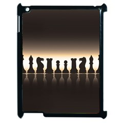 Chess Pieces Apple Ipad 2 Case (black) by Valentinaart