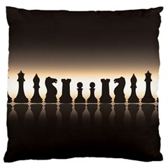 Chess Pieces Large Cushion Case (two Sides) by Valentinaart