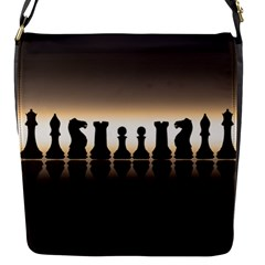 Chess Pieces Flap Messenger Bag (s) by Valentinaart