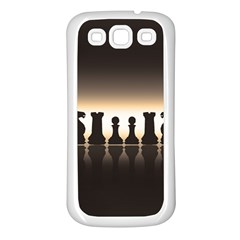Chess Pieces Samsung Galaxy S3 Back Case (white)