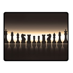 Chess Pieces Double Sided Fleece Blanket (small)