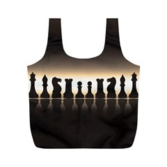 Chess Pieces Full Print Recycle Bags (m)  by Valentinaart