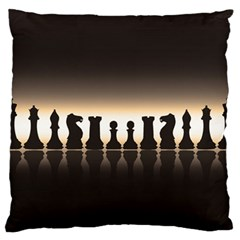 Chess Pieces Standard Flano Cushion Case (two Sides) by Valentinaart
