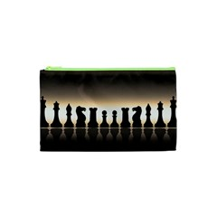 Chess Pieces Cosmetic Bag (xs) by Valentinaart