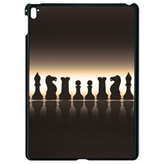 Chess Pieces Apple Ipad Pro 9 7   Black Seamless Case by Valentinaart