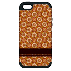 Floral Seamless Pattern Vector Apple Iphone 5 Hardshell Case (pc+silicone)