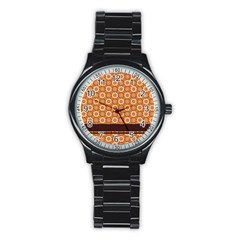 Floral Seamless Pattern Vector Stainless Steel Round Watch by Nexatart