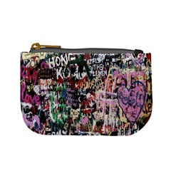 Graffiti Wall Pattern Background Mini Coin Purses by Nexatart