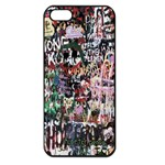 Graffiti Wall Pattern Background Apple iPhone 5 Seamless Case (Black) Front