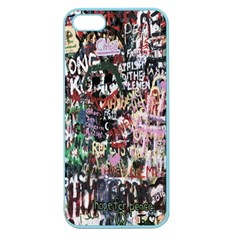 Graffiti Wall Pattern Background Apple Seamless Iphone 5 Case (color) by Nexatart