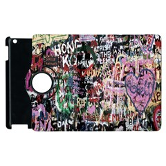 Graffiti Wall Pattern Background Apple Ipad 2 Flip 360 Case by Nexatart