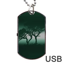 Sunset Dog Tag Usb Flash (two Sides) by Valentinaart
