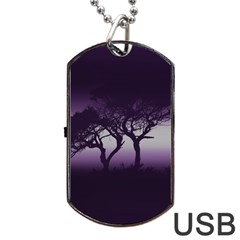Sunset Dog Tag Usb Flash (two Sides)