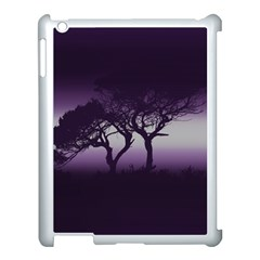 Sunset Apple Ipad 3/4 Case (white) by Valentinaart
