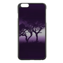 Sunset Apple Iphone 6 Plus/6s Plus Black Enamel Case