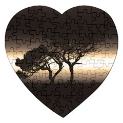 Sunset Jigsaw Puzzle (heart) by Valentinaart
