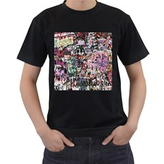 Graffiti Wall Pattern Background Men s T-shirt (black) by Nexatart