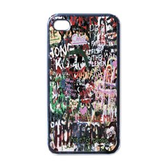 Graffiti Wall Pattern Background Apple Iphone 4 Case (black)