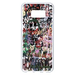Graffiti Wall Pattern Background Samsung Galaxy S8 Plus White Seamless Case by Nexatart