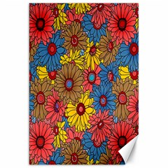 Background With Multi Color Floral Pattern Canvas 20  X 30   by Nexatart