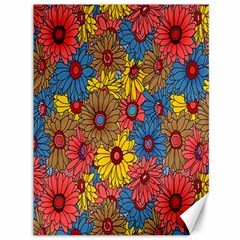 Background With Multi Color Floral Pattern Canvas 36  X 48
